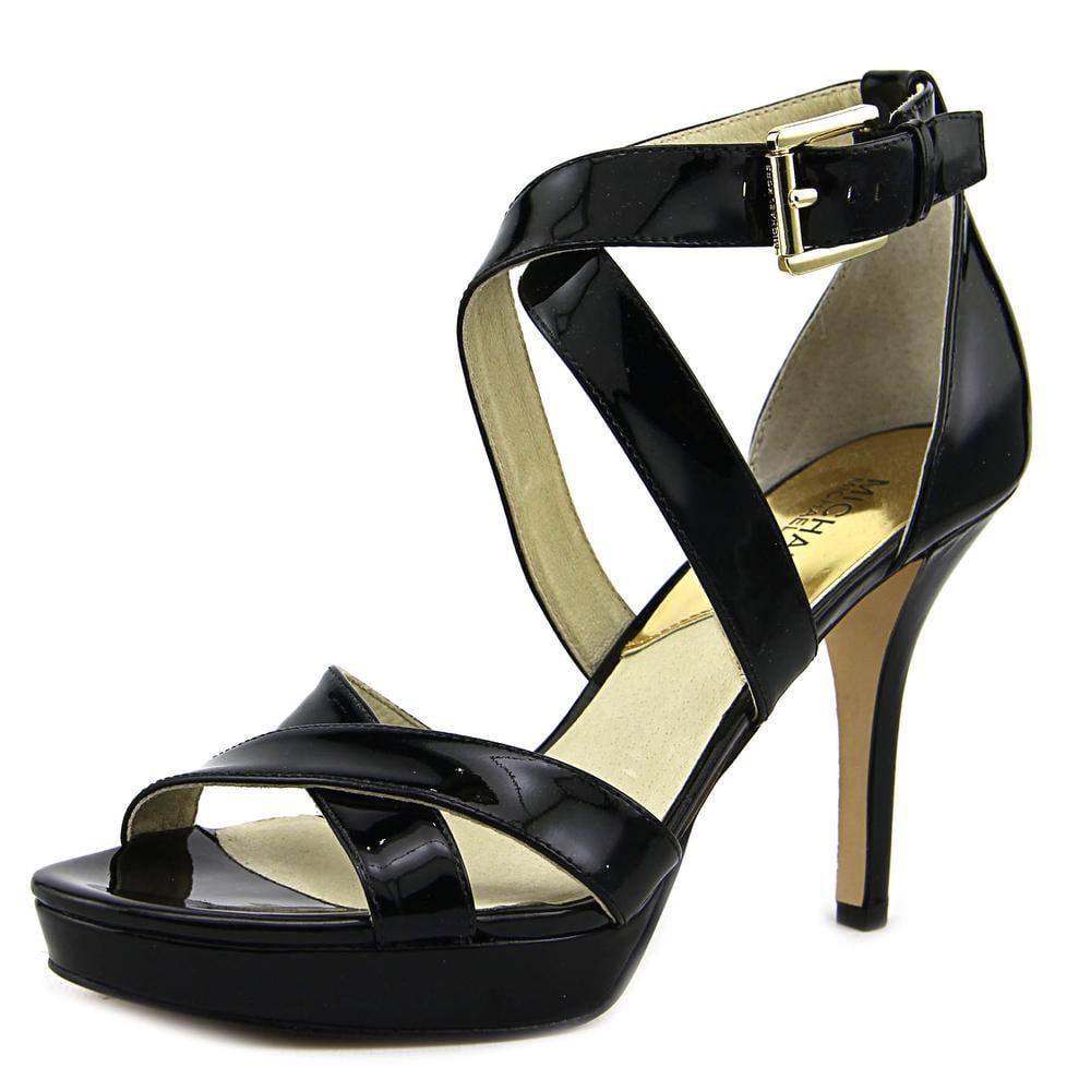 13c61440477 Michael Michael Kors - Michael Michael Kors Evie Platform Women Patent  Leather Black Platform Heel - Walmart.com