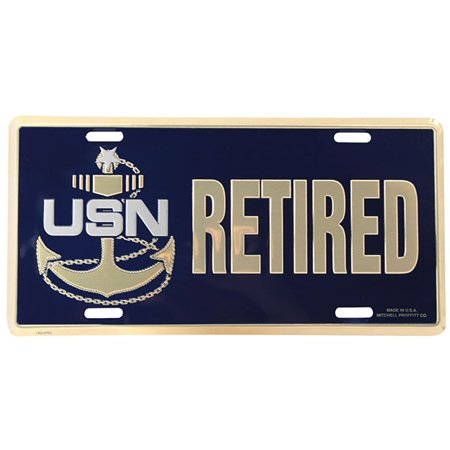 Navy Senior Chief Retired License Plate