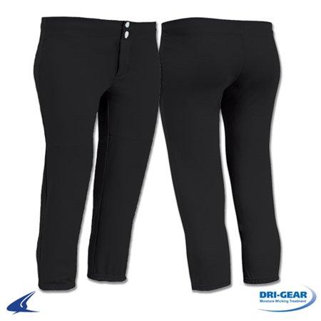 Champro Women's Low Rise Softball Pants - Black - Women's Medium