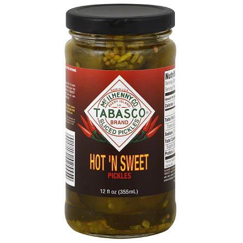 TABASCO Brand Hot 'N Sweet Pickles, 12 fl oz, (Pack of 12)