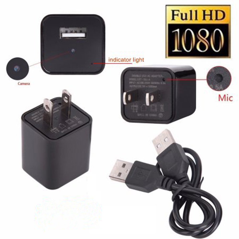 Ktaxon Wireless HD 1080P Mini Spy Wall Charger Hidden Camera Security Nanny Cam