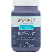 Waverly Inspirations 60711E Chalk Paint, Ultra Matte, Elephant, 8 fl oz