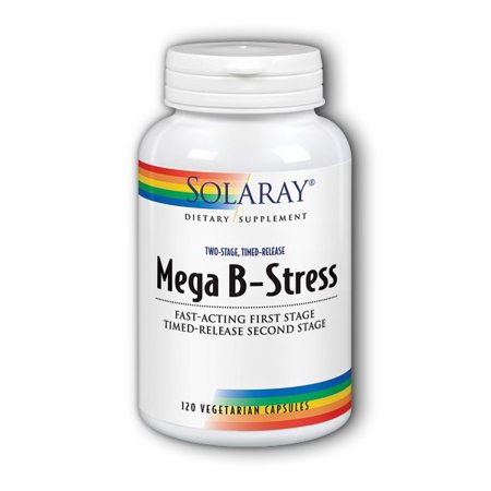Solaray Mega B-Stress 120 Vegetarian Capsules (Vegetarian Mega Vitamin)