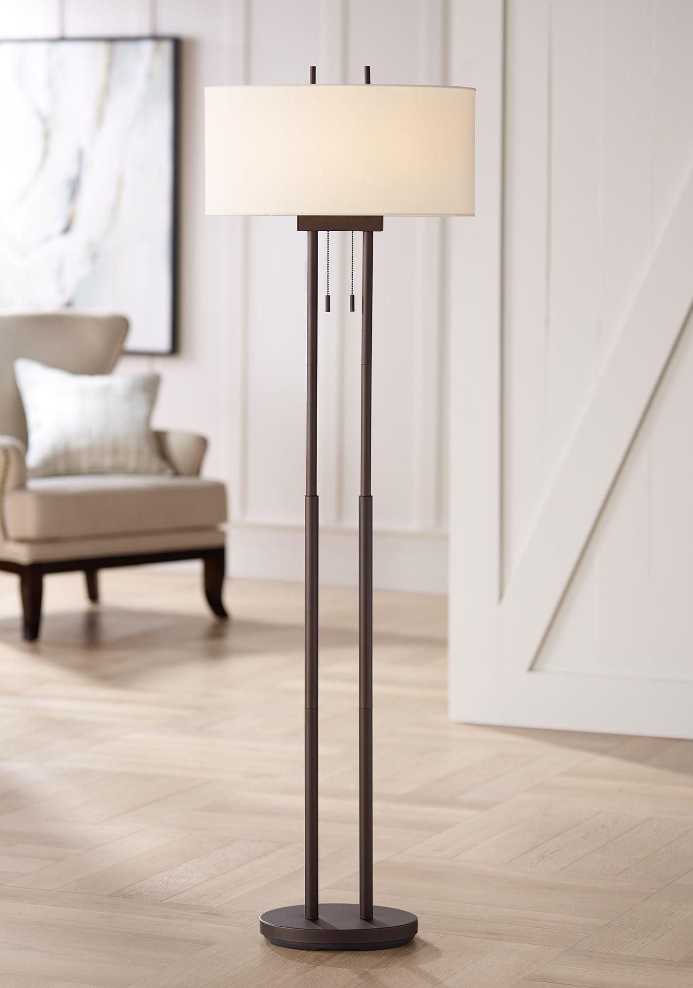 Lighting Modern Floor Lamp Twin Pole