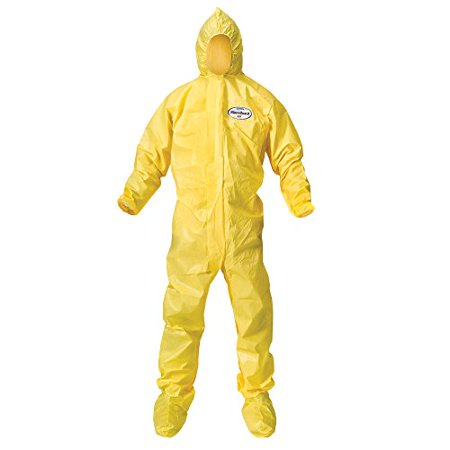 - Kleenguard A70 Chemical Spray Protection Coveralls (00684) Suit, Hooded, Boot...