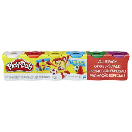 Play-Doh 4 Primary Colors Plus 2 Cans Value Pack