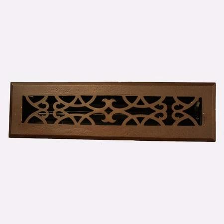 Brass Elegans Inc Victorian Scroll Design Bronze 2.25x14-inch Floor -