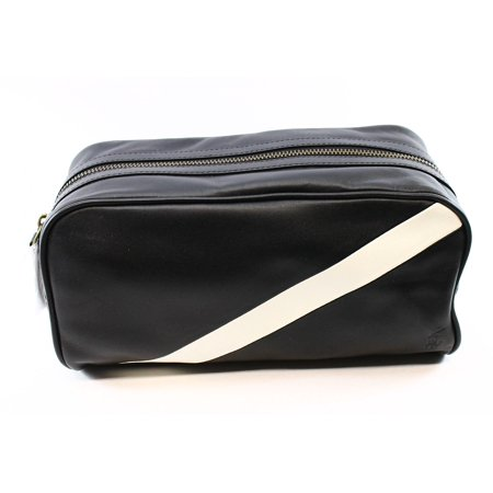 a804c1c5eb19 Polo Ralph Lauren - Polo Ralph Lauren NEW Black Leather Stripe Men s  Utility Toiletry Bag - Walmart.com