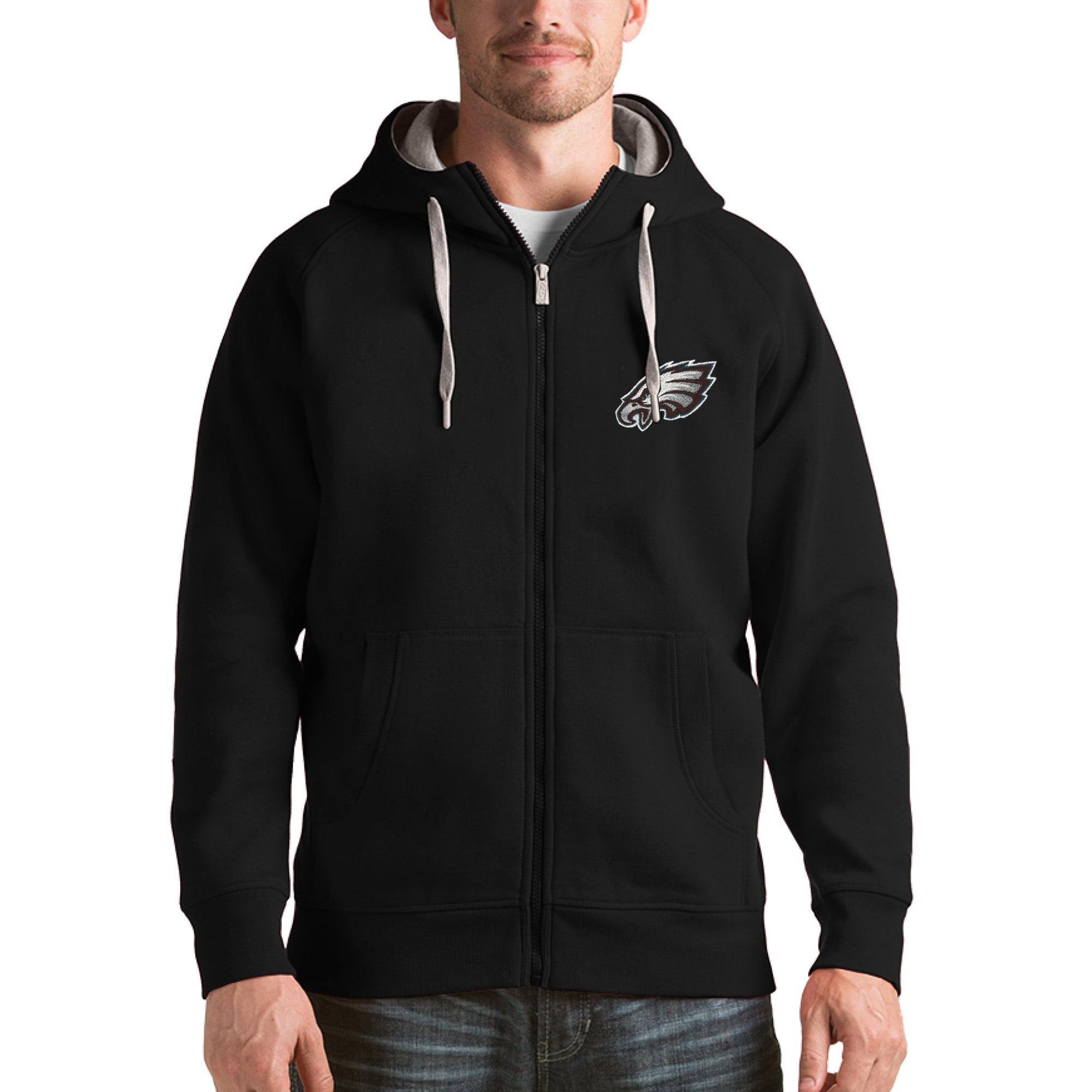 Philadelphia Eagles Antigua Victory Full-Zip Hoodie - Black