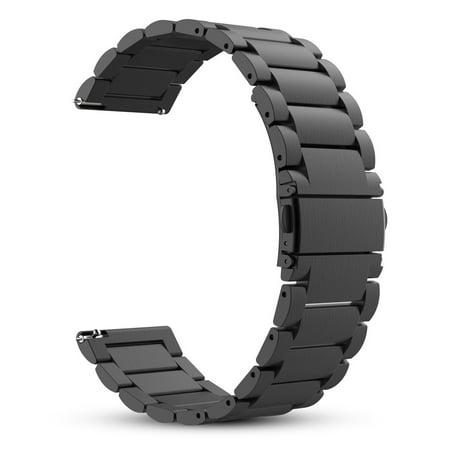 Band for Garmin Vivoactive 3 /Vivomove HR / Forerunner 645, Fintie 20mm Stainless Steel Metal Replacement Watch