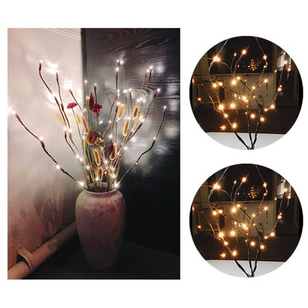 Outtop LED Willow Branch Lamp Floral Lights 20 Bulbs Home Christmas Party  Garden Decor