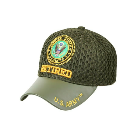 US Army Veteran Hats Military Cap Air Force Retired Vietnam War Disabled (7mc071_Mesh Army Retired)](Us Army Air Force Uniform)