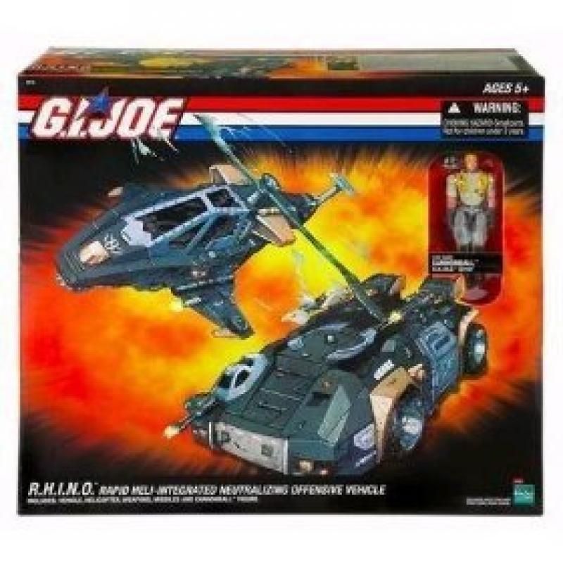 Hasbro Direct Exclusive GI Joe R.H.I.N.O. (Rapid Heli-Integrated Neutralizing Offensive Vehicle) with... by