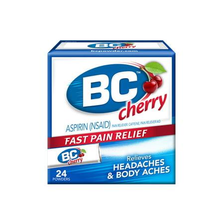 Bc Cherry Headache Powders Aspirin Pain Reliever Powdered Packs  24 Ct