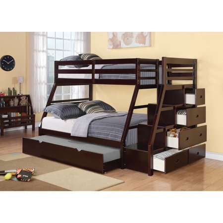Acme Furniture Jason Twin Over Full Bunk Bed - (Bunk Beds Full Bottom)