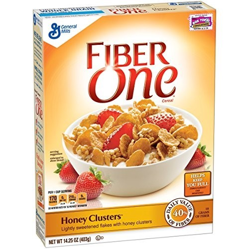 Fiber One Cereal Honey Clusters (Pack of 10)