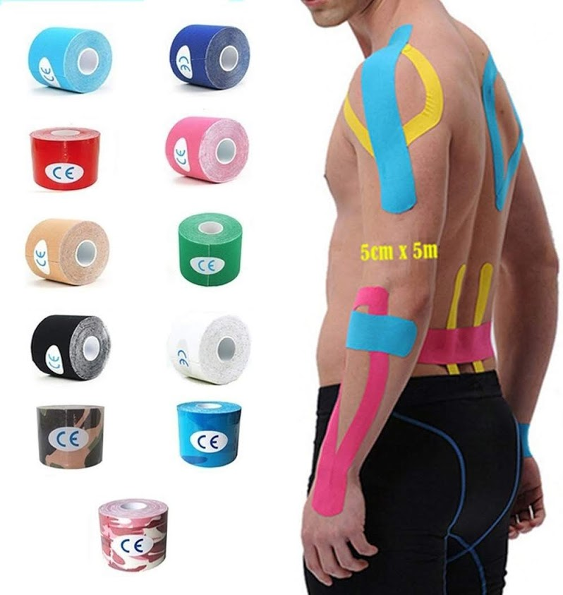 2.5cm*5m Elastic Bandage Adhesive Kinesiology Tapes for Sport Muscle Injury