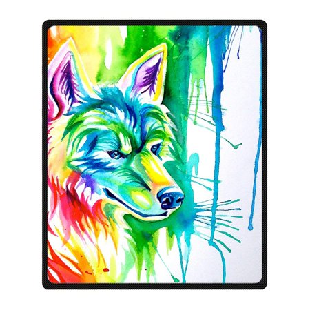RYLABLUE Wolf Blanket Fleece Throw Blanket for Sofa or Bed 58x80 inches - image 1 de 3
