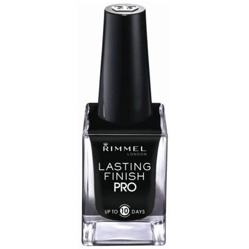Rimmel Lasting Finish Pro Nail Enamel, Black Satin, 0.45 fl oz