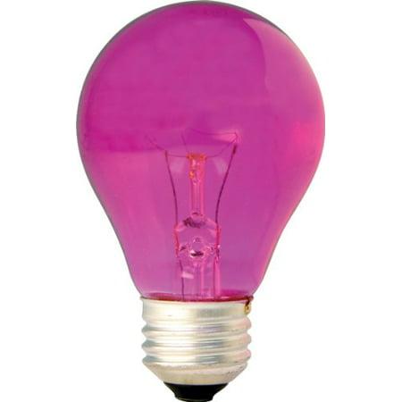Ceramic Pink A19 Bulb - GE Lighting 22730 25-Watt 1900-Lumen Specialty A19 Incandescent Light Bulb, Pink