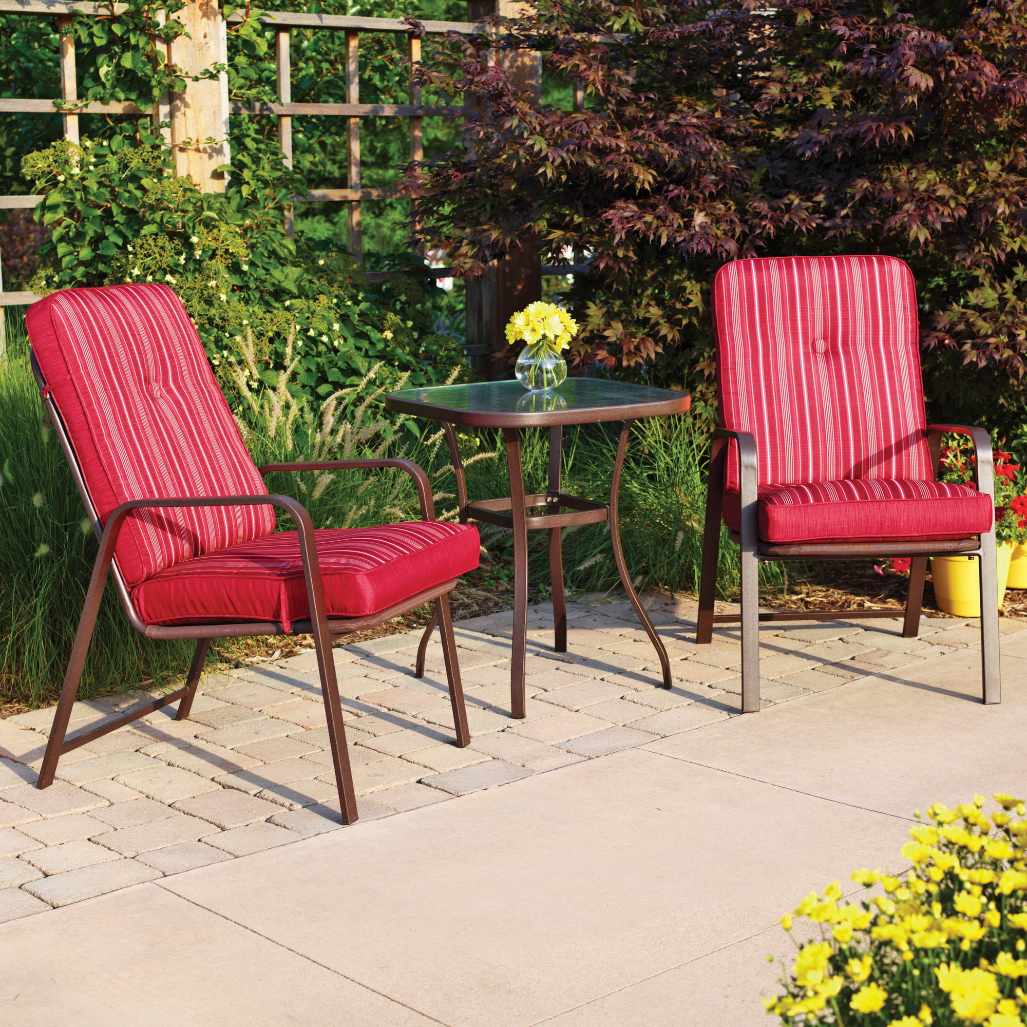 Better Homes And Gardens Rose 3 Piece Outdoor Bistro Set   Walmart.com