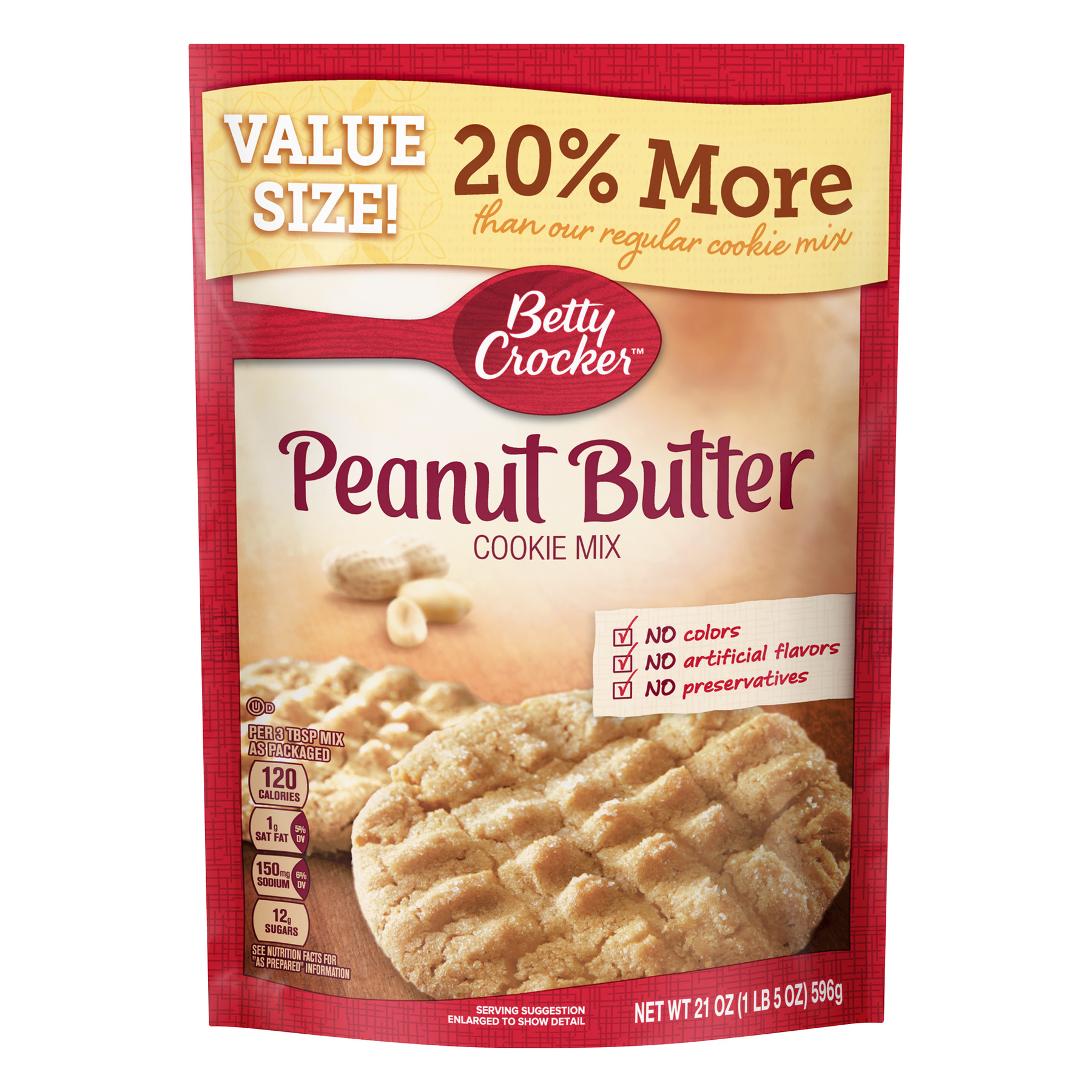 (2 Pack) Betty Crocker™ Peanut Butter Cookie Mix
