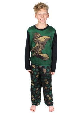 The Legend Of Zelda Link Long Sleeve Shirt Two Piece Boys Pajama Set