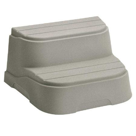 LifeSmart 2 Step Non Slip Rectangle Square Spa Hot Tub Straight Steps, (2 Pack) - image 5 de 6