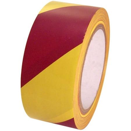 SST-636 2 inch x 36 yd Magenta/Yellow Vinyl Safety Stripe Tape