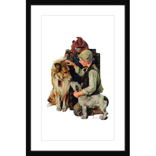 "Marmont Hill ""Raleigh Rockwell"" by Norman Rockwell Framed Art Print"