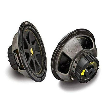 2 x kicker 10c124 comp 12''-inch 600w max power each car sub woofer 4 ohm svc ()