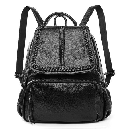 Chloe Women's Genuine Leather Backpack with Adjustable Shoulder Strap for Everyday (Best Backpack For Everyday Use)