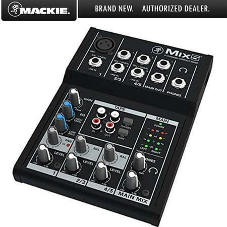 Mackie Mix5 5-Channel Compact Analog Mixer (Analog Mixer)