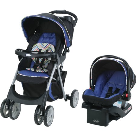 Graco Comfy Cruiser Click Connect Stroller Travel System  With Snugride Clickconnect 30 Infant Car Seat  Lively