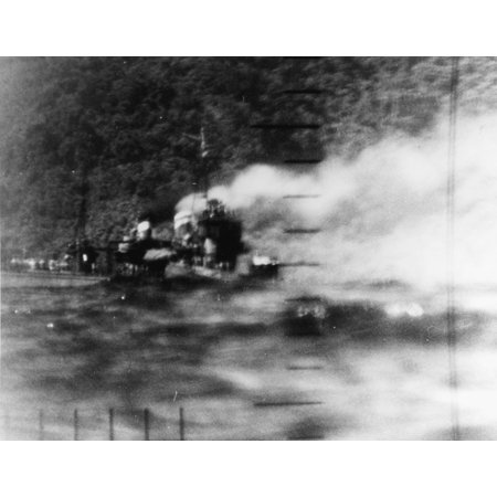 LAMINATED POSTER The Japanese destroyer Harusame, photographed through the periscope ot the U.S. Navy submarine USS W Poster Print 24 x 36