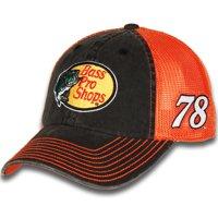 933de67ed Martin Truex Jr Checkered Flag Bass Pro Shops Vintage Adjustable Trucker Hat  - Black Orange
