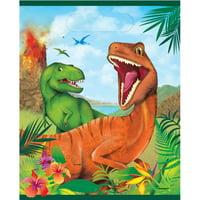 Plastic Dinosaur Goodie Bags, 8ct