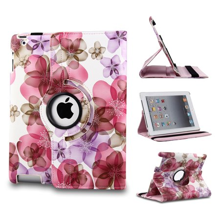 Apple iPad 2/3/4 Case - 360 Degree Rotating Stand Smart Case Cover for iPad with Retina Display (iPad 4th Generation), the new iPad 3 & iPad 2 (Automatic Wake/Sleep Feature)