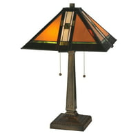 Meyda 22-inch Montana Mission Table Lamp
