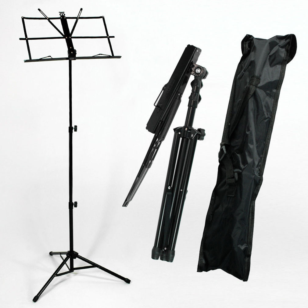 Ktaxon Adjustable Folding Music Stand Holder with Carry Gig Bag