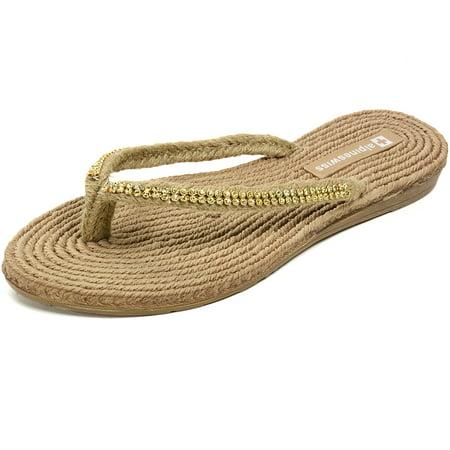 b91adb9223cdf1 Alpine Swiss - AlpineSwiss Womens Rhinestone Sandals Padded Sole Thongs  Comfort Flat Flip Flops - Walmart.com