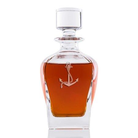 (Longshore Tides Affric Anchor Whiskey 24 oz. Decanter)