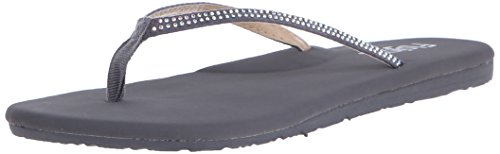 Flojos Women's Sofie Flat Sandal, Charcoal, 5 M US by Flojos