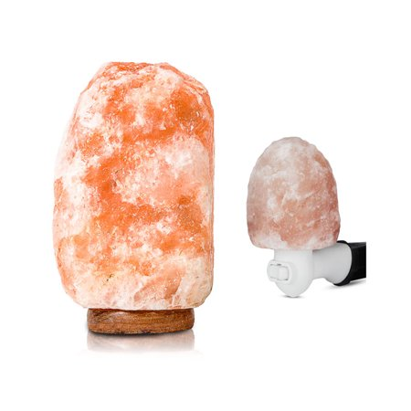 Salacia Heart of the Himalayan Dimmable Electric Salt Lamp and Night Light, Pink Dots Heart Night Light