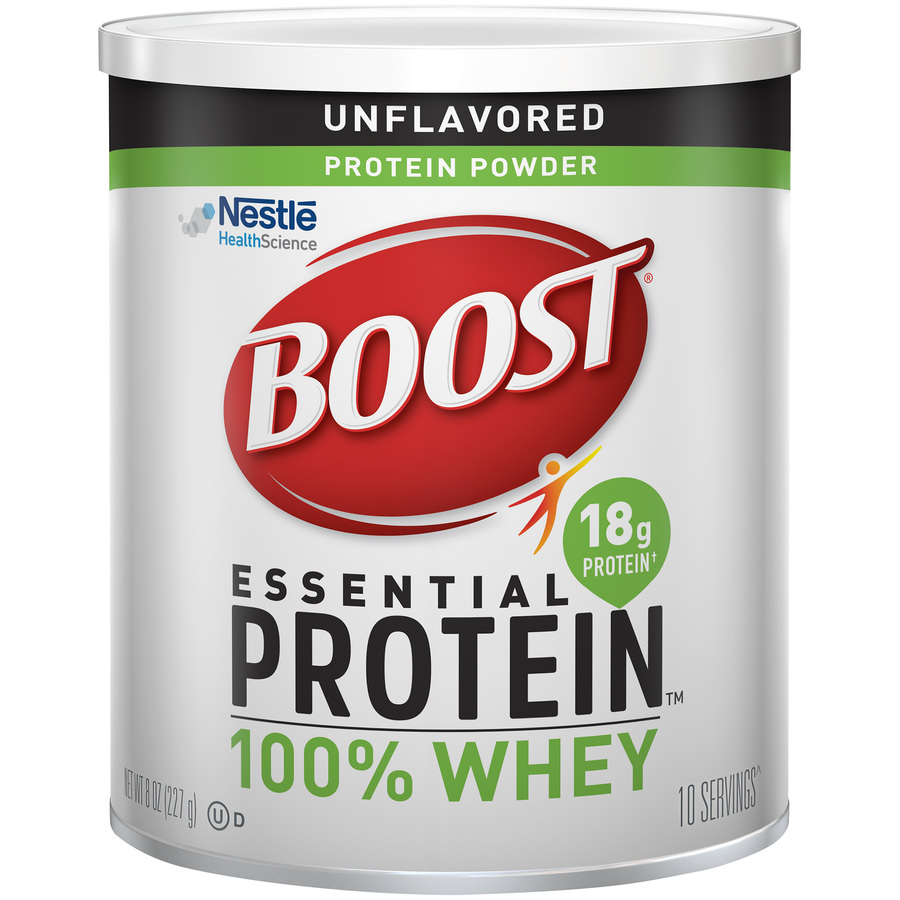 BOOST Essential Protein Powder, Unflavored, 8 oz Canister