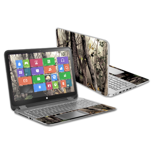 "MightySkins Protective Vinyl Skin Decal Cover for HP Envy x360 15.6"" (2014 Version) Laptop wrap cover sticker skins Tree Camo"