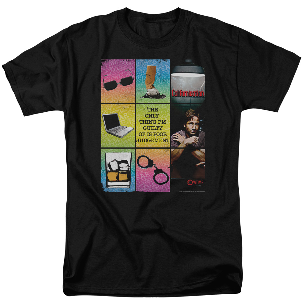 Californication Poor Judgement Mens Short Sleeve Shirt