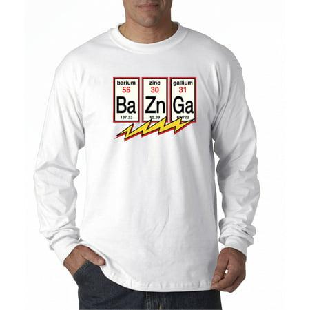 685 - Unisex Long-Sleeve T-Shirt Ba Zn Ga Bazinga Big Bang Theory Flash Physics (Mens Clothing Athens Ga)