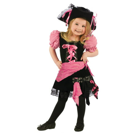 Pink Punk Pirate Toddler Costume - Toddler Small - Punk Rock Halloween Costume Ideas