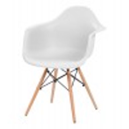 IRIS Plastic Shell Chair With Arm Rest, 2 Pack, -
